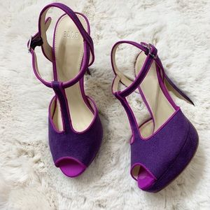 Elle High Heel Purple Elharissa 6M T Ankle strap